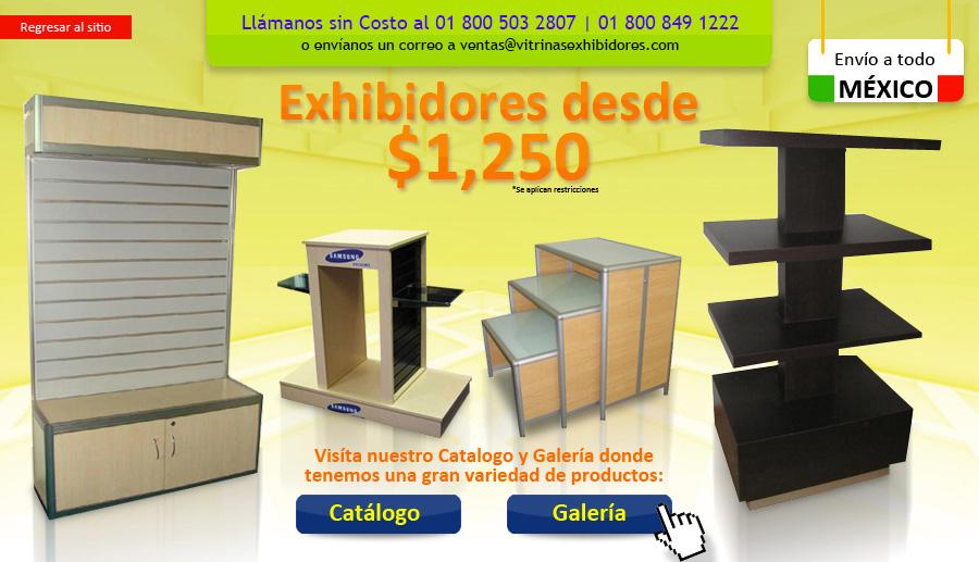 Exhibidores muebles exhibidores diseno exhibidores for Diseno de muebles metalicos pdf